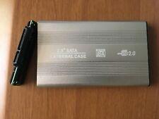 """HARD DISK CASE BOX SLIM ESTERNO 2,5"""" SATA HD HDD USB 2.0 CAVO DRIVE ADATTATORE"""
