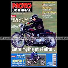 MOTO JOURNAL N°1169 KAWASAKI KLR 650 HARLEY 1340 BAD BOY MICKAEL PICHON 1995