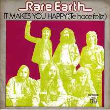 "7"" RARE EARTH it makes you happy / te hace feliz 45 SPANISH SINGLE 1976"