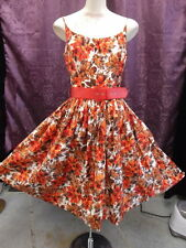 Autumn Floral Colors Summer Cutie 50s strappy Dress  Jr. Theme Label sz small