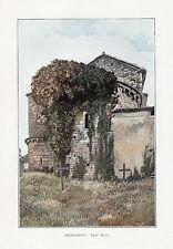 46 SAINTE CROIX EGLISE ABSIDE IMAGE COULEUR 1903