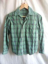 Chemise garçon-ikks, taille 10A 138, vert, carreaux coton, à manches longues casual - 7554