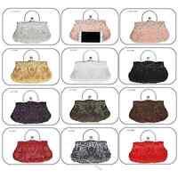 Women's Handbag Wedding Party Bridal Evening Clutch Bag Sequins Beaded Purse