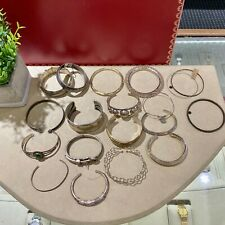 Lot of 19 Sterling Silver Bangles 925 Jewelry Vintage Modern No Scrap 398 Grams