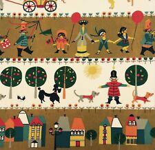 vtg 50s fabric original retro DIY wall art framing kitsch dogs houses dachsund