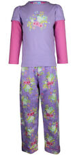 MiniZZZ Flower Bouquet L/S Cotton T-Shirt / Flannel Pant Pyjama Set Lilac (5)