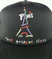 Eiffel Tower Trucker Hat Cap Paris France Tour Gustave Souvenir Neon Style Color