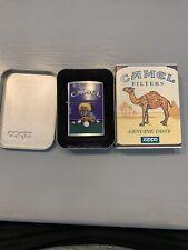 New Listing1997 Camel Joe Pool Player Zippo . Brush Chrome . Unstruck With Sleeve