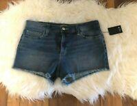 New NWT Women's Joe's Jeans Cut-Off Denim Shorts Blue Size 30 Distressed
