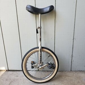 "SUN 16"" Unicycle - Bike Bicycle Circus Super Fun Chrome Black Rare Single Wheel"