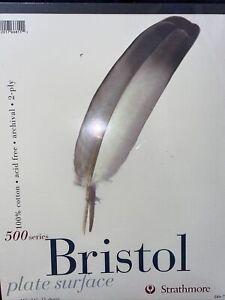 Strathmore Premium 500 Bristol Series High Quality 11X14 Sketch Pad *FREE SHIPPI
