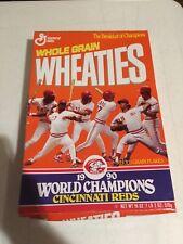 1990 Cincinnati Reds World Champions unopened Wheaties box