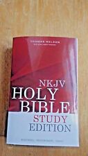 THE NKJV Holy Bible Softcover STUDY EDITION  All Black Text