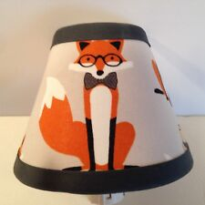 Fox/Woodlands Fabric Children's Night Light Free Shipping