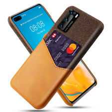 For Huawei P40 P30 P20 Pro P40 Lite E Wallet Credit Card Leather Back Case Cover