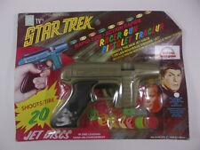 Vintage NBC Star Trek Tracer Gun Shoots 20 Disc 1966 Sealed RAPID FIRE Grand Toy