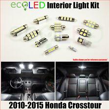 Fits 2010-2015 Honda Crosstour WHITE LED Interior Light Accessories Kit 7 Bulbs