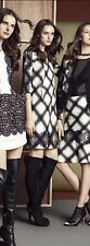 NWT $368 BCBG Dorielle Career Holiday Pockets Off White And Plaid Dress Size M
