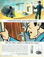 PUBLICITE ADVERTISING 036  1965  Gimm    portes & fenetres