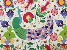 By 1/2 Yard ~ Windham Enchanted Folktale ~ Peacock Birds Floral Cotton Fabric
