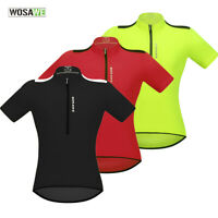 Men Breathable Cycling Jersey MTB Bike Short Sleeve Tops Elastic Quick Dry Shirt