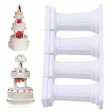 4x Grecian Pillars Wedding Cake Tier Separator Support Stand Decor UK Grea Nice