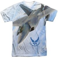 Authentic US Air Force USAF F22 fighter Fly By Front T-shirt S M L X 2X 3X top