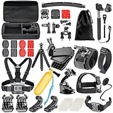 KIT 50 EN 1 ACCESSORIES CAMERA SPORTS GO PRO HERO 5 4 3+ 3 2 1 XIAOMI YI SJCAM