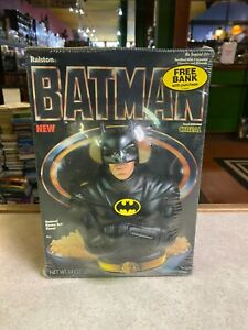 Vintage Ralston Batman Cereal Box Factory Sealed Bank Toy Brand 1989 New Sealed