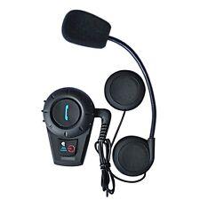 1x BT Intercomunicador Interphone Bluetooth Auriculares Interfono para Moto 500M