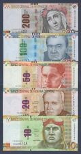 PERÚ SET NUEVOS SOLES**VERY SCARCE**ND 2009-2013**UNC GEM**SEE FULL DESCRIPTION