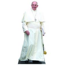 H48061 Pope Francis Standing Cardboard Cutout Standup