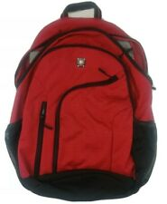 SwissGear Double Zipper Backpack With Laptop Pocket, Red/Black