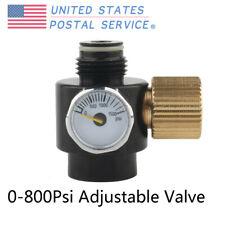 Paintball High Pressure Co2 Air Tank Valve 0-800Psi Adjustable Regulator