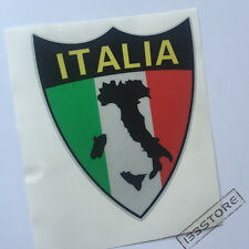 4'' Reflective Italy Italian Flag Map Tricolor Car Vinyl Decal Sticker Shield