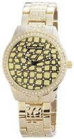 Excellanc Damenuhr Gold Strass Analog Metall Quarz Armbanduhr X150904000006