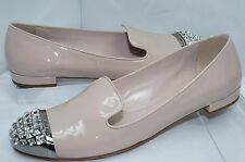 New Miu Miu Shoes Flats Beige Women's Size 39.5 Vernice Ballet Calzature Leather
