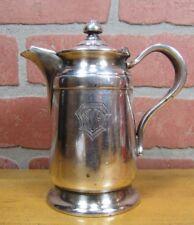 Antique NEW YORK HOSPITAL NYH Creamer Silver Soldered Reed&Barton Restaurantware