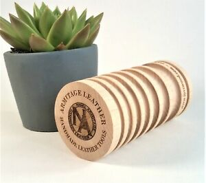 Multi-Size Leather Burnisher - Wooden Edge Slicker, Armitage Leather Wood Tools