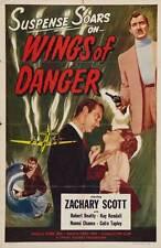 WINGS OF DANGER Movie POSTER 27x40 Zachary Scott Robert Beatty Kay Kendall Naomi