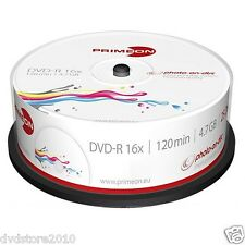 1000 PRIMEON DVD-R Stampabili 4.7GB 120 Minuti 16X Print Inkjet Cake -R 2761205