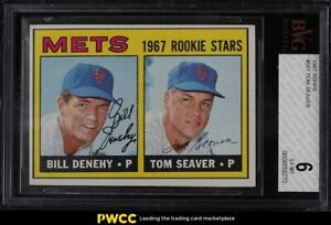 1967 Topps Tom Seaver ROOKIE RC #581 BVG 6 EXMT