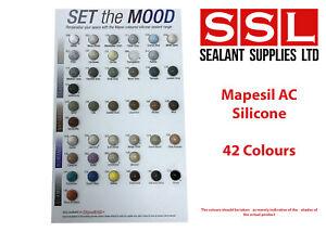 MAPEI AC MAPESIL AC 310ML SILICONE SEALANT HM MM MODULUS ALL COLOURS AVAILABLE