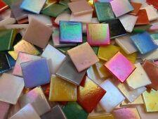 Mosaiksteine Top 1 Kg Glasmosaik Perlmutteffekt 20x20mm im Bunten Mix irisierend
