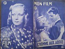 """MON FILM 1949 N 165 """" L'HOMME AUX ABOIS """" avec  BURT LANCASTER et LIZABETH SCOTT"""