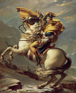 Napoleon Crossing The Alps Painting Home Decor HD Print art oil painting canvas