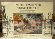 NEW Sketches of Amelia Island and Fernandina Beach William Mauser Florida Art