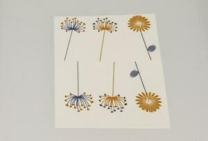 Fused Glass Materials and Supplies - Modern Flowers Delft Blue/Gold Luster Decal