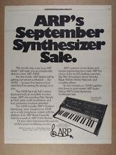 1975 ARP AXXE Synthesizer vintage print Ad
