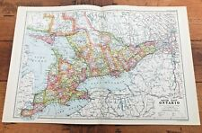 1900s double page map from g.w. bacon - south east ontario